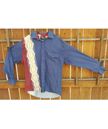 """Vtg Roper """"Boarder"""" Western Shirt-Blue-Blue Snap Button Up-L-Made in USA... - $15.87"""