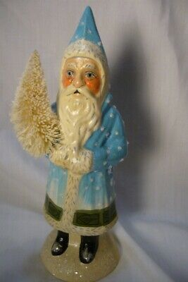 Vaillancourt Folk Art, Snowy Father Christmas, Personally signed by Judi!