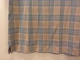 Lands' End Men's Size L 42 44 Polo Shirt Plaid Beige & Dusty Blue Short Sleeves image 5