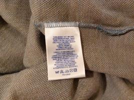 Lands' End Men's Size L 42 44 Polo Shirt Plaid Beige & Dusty Blue Short Sleeves image 10