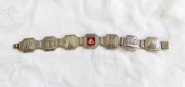 Vintage Paris Bracelet Parisian Landmarks Souvenir Jewelry Paris Crest - $65.00