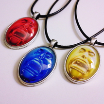 DmC: Devil May Cry collection of 3 orb pendants - 18 inch black cord nec... - $25.00