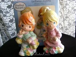 PRECIOUS MOMENTS Girlfriends Shopping Salt & Pepper Shakers Set Gibson 2006 - $23.72