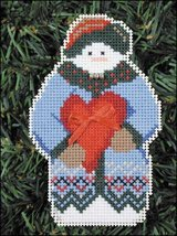 Whimsey Snow Folks Ornament kit christmas perforated paper cross stitch kit - $5.40