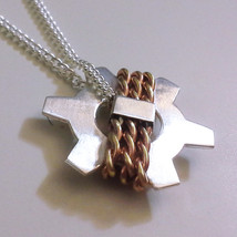 Bastion City Crest Video Game Necklace - Heavy Sterling Silver & Brass - $55.00