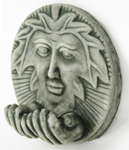 Leaf Man with Hands Concrete Wall Plaque  - $59.00