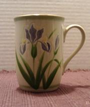 Vintage OTAGIRI JAPAN Purple Iris Raised Glaze Cofffee Mug Coffee Cup - $7.00