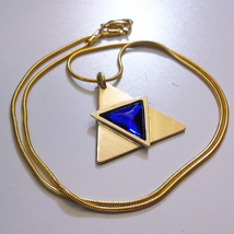 Legend of Zelda Triforce of Wisdom Ocarina of Time Brass Necklace Pendan... - $49.00