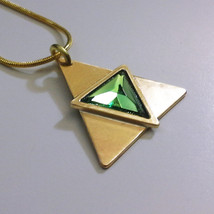 Legend of Zelda Triforce of Courage Ocarina of Time Brass Necklace Penda... - $49.00