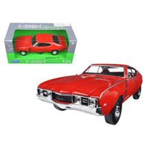 1968 Oldsmobile 442 Red 1/24-1/27 Diecast Model Car by Welly 24024R - $29.91