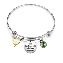 KUIYAI I am Burdened with Glorious Purpose Key Ring Loki Helmet Bracelet Bracele