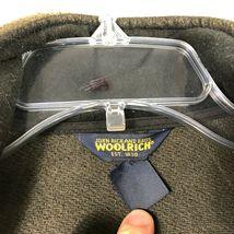 Wool Rich Wool Fleece Jacket Men's L Green Wool Blend Thick Winter Coat image 4