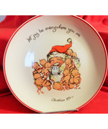 """Kewpies Vintage1973Christmas Plate,""""Let joy be every where you are"""",Rose... - $29.50"""