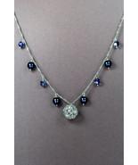 Swarovski crystal & Swarovski pearl necklace with silver plated filigree... - $40.00