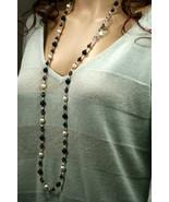 Blue goldstone, tiger eye stone & Swarovski crystal lariat style necklace - $141.00