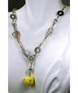 Swarovski crystal and silver plate links necklace with Swarovski crystal... - $53.00