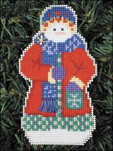Snowlfake Snow Folks Ornament kit christmas perforated paper cross stitc... - $5.40