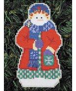 Snowlfake Snow Folks Ornament kit christmas perforated paper cross stitc... - $5.40