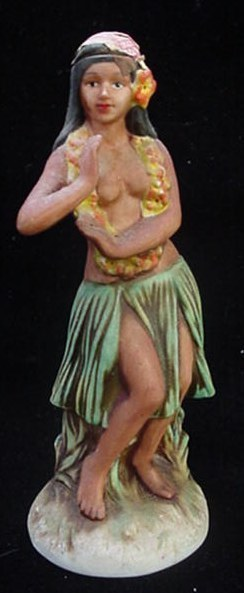 Hawaiian Distilleries Okolehao Hula Girl Liquor Bottle