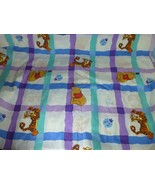 Disney Winnie the Pooh Tigger Twin Sheet Flat Nice Graphics Fabric - $19.78