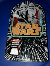 star wars tin with small mens boxer new sealed - $6.79