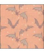 Bats on Orange HandDyed Effect 28ct Linen 35x19 cross stitch fabric Fabr... - $45.00
