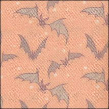 Bats on Orange HandDyed Effect 28ct Linen 17x19 cross stitch fabric Fabr... - $22.50