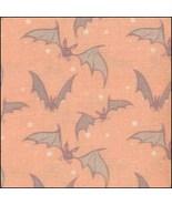 Bats on Orange HandDyed Effect 28ct Linen 17x19 cross stitch fabric Fabr... - $22.50