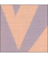 Haloween Zig Zag HandDyed Effect 28ct Linen 17x19 cross stitch Fabric Flair - $22.50