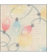 Christmas Lights HandDyed Effect 28ct Linen 17x19 cross stitch Fabric Flair - $22.50