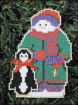 Willit Snow Folks Ornament kit christmas perforated paper cross stitch kit - $5.40