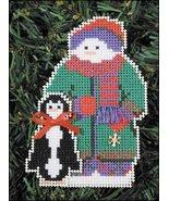 Willit Snow Folks Ornament kit christmas perforated paper cross stitch kit - $5.40