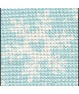 Funky Snowflakes HandDyed Effect 28ct Linen 35x39 cross stitch Fabric Flair - $90.00