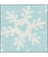 Funky Snowflakes HandDyed Effect 28ct Linen 35x19 cross stitch Fabric Flair - $45.00