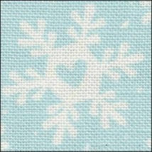 Funky Snowflakes HandDyed Effect 28ct Linen 17x19 cross stitch Fabric Flair - $22.50