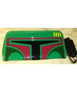 Star Wars Boba Fett Wallet by Loungefly Patent ... - $14.99