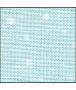 Snow On Blue HandDyed Effect 28ct Linen 35x39 cross stitch Fabric Flair - $90.00