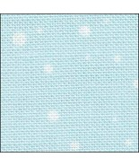 Snow On Blue HandDyed Effect 28ct Linen 35x19 cross stitch Fabric Flair - $45.00