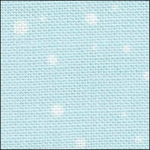 Snow On Blue HandDyed Effect 28ct Linen 17x19 cross stitch Fabric Flair - $22.50