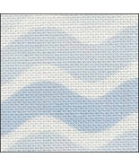 Blue Waves HandDyed Effect 28ct Linen 35x19 cross stitch Fabric Flair - $45.00