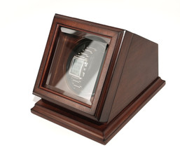 Bombay New Automatic Watch Winder Rotater Box Wood Finish Brown - $114.83