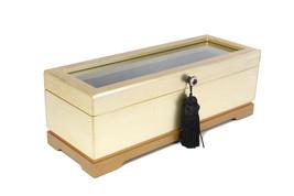 High class wood Cufflink Case & watch box and Organizer (golden)  New Gift - €67,34 EUR