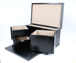Modern high quality Black wood  Cufflink Case Ring and Jewelry Box  New ... - €97,16 EUR