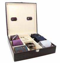 Decorebay Handcrafted Crocodile Leather Tie Box  Cufflink Storage Box me... - €46,29 EUR