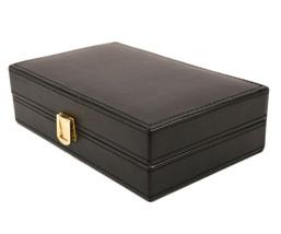 Bombay Executive class Black leather Cufflink Case & Ring Storage Organi... - €30,30 EUR