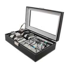 Top Quality Leatherette Executive Combo Jewelry Box and Sunglass Glasses... - €58,63 EUR