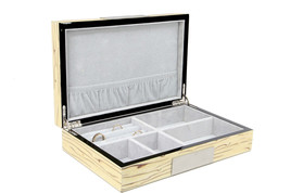 Exqusite high glossy Cufflink Case & Ring Storage Organizer Men's Jewelr... - €48,10 EUR