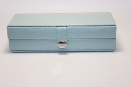NIB Pottery Barn McKenna Travel Jewelry Box - Leather - Porcelain Blue - €50,36 EUR