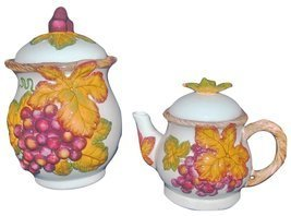 Bico China Autumn Leaves Teapot and Cookie Jar Set - $49.99