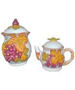 Bico China Autumn Leaves Teapot and Cookie Jar Set - £35.34 GBP